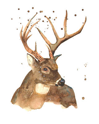 Reindeer Wall Art - Painting - Blitzen by Alison Fennell