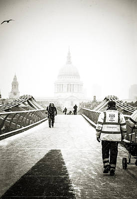 Photograph - Blizzard At St Pauls by Lenny Carter