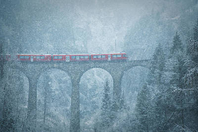 Winter Storm Photograph - Blizzard by Julia Wimmerlin