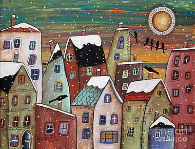Winter Landscapes Painting - Blizzard by Karla Gerard