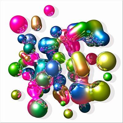 Art Print featuring the digital art Blobs Of Fun... by Tim Fillingim