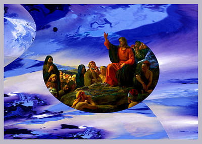 Digital Art - Bloch Jesus Sermon by Robert Kernodle