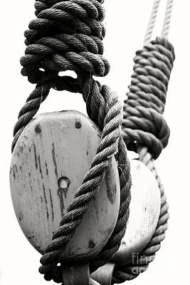 Block And Tackle Of Old Sailing Ship Art Print