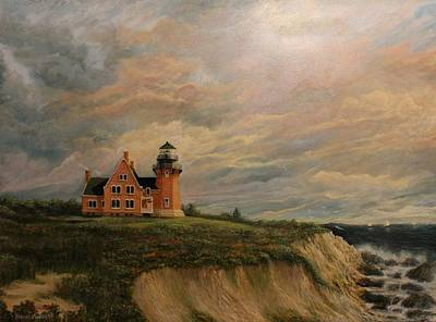 New England Lighthouse Painting - Block Island Southeast Lighthouse by Robert Wright