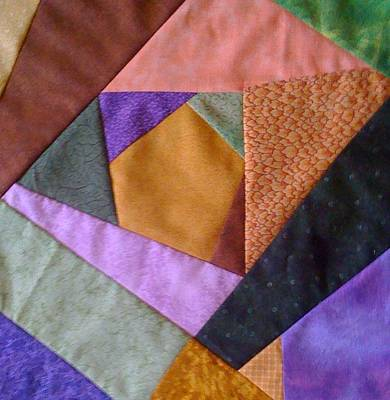 Crazy Quilt Photograph - Block Of Many Colors by Paula Talbert