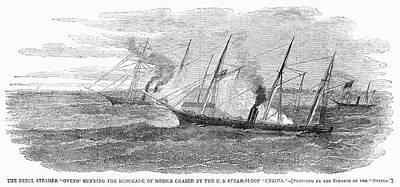 Oneida Painting - Blockade Runner, 1862 by Granger