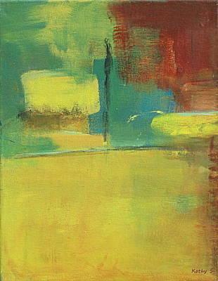 Painting - Blockit by Kathy Sheeran