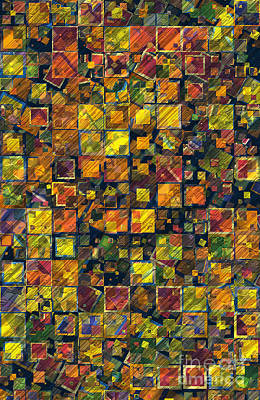 Block Quilts Digital Art - Blocks by Susan Schroeder