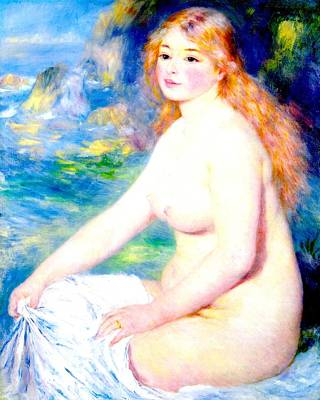 Digital Art - Blond Bather by Pierre Auguste Renoir
