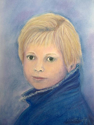 Painting - Blond Girl - The Photographers Daughter by Loretta Luglio