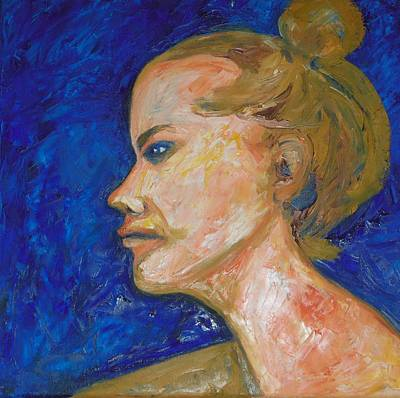 Painting - Blond So Blue by Esther Newman-Cohen
