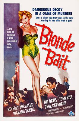 Blonde Bait, Beverly Michaels, 1956 Art Print by Everett