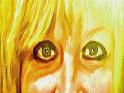 Portrait Study Mixed Media - Blonde by Dennis Buckman