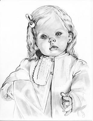 Blonde Doll Art Print