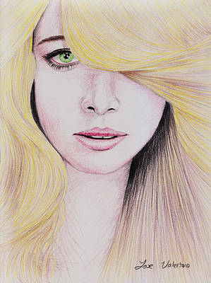 Drawing - Blonde Hair by M Valeriano