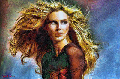 Painting - Blonde On A Windy Day by Tyler Robbins