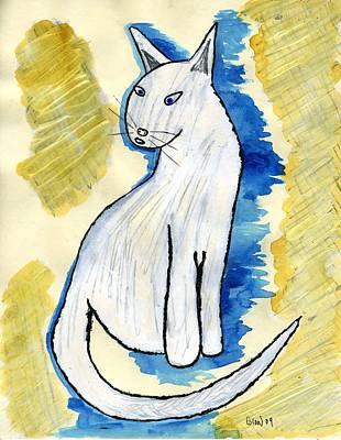 Blondie Cat Art Print by William Blood