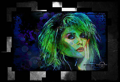 Digital Art - Blondie - Debbie Harry by Absinthe Art By Michelle LeAnn Scott