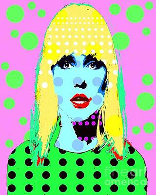 Digital Art - Blondie by Ricky Sencion