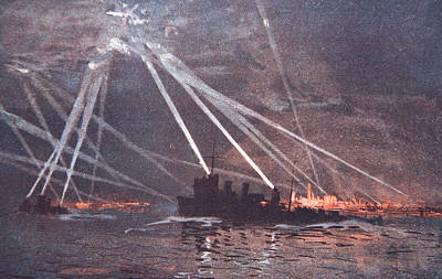 Rays Painting - Blood And Iron An Air Raid by Donald Maxwell