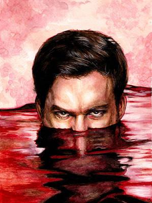 Blood Bath Art Print by Lanie McCarry