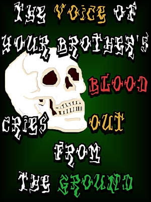 Blood Cries Out Art Print by Social Justice Ink