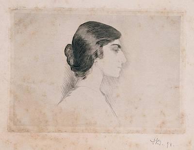 Blood Florence, Self-portrait, 1898 Art Print by Everett