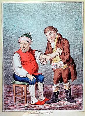 Blood-letting Treatment Art Print by National Library Of Medicine