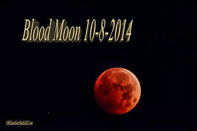 Watercolor Typographic Countries - Blood Moon 2014 by LeeAnn McLaneGoetz McLaneGoetzStudioLLCcom