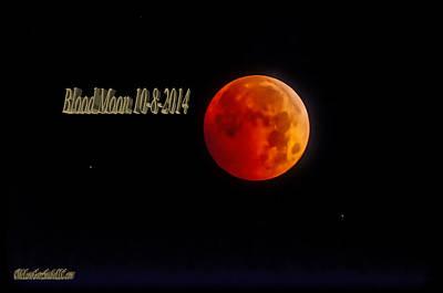 Photograph - Blood Moon 2014 V2 by LeeAnn McLaneGoetz McLaneGoetzStudioLLCcom
