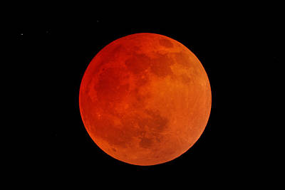 Photograph - Blood Moon--a Total Lunar Eclipse by Alan Vance Ley