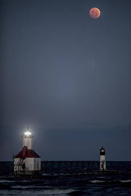 Photograph - Blood Moon Over St Joe 2 by John Crothers