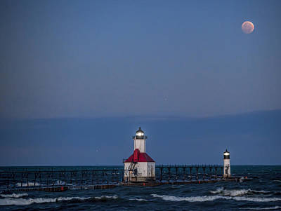 Photograph - Blood Moon Over St Joe 3 by John Crothers
