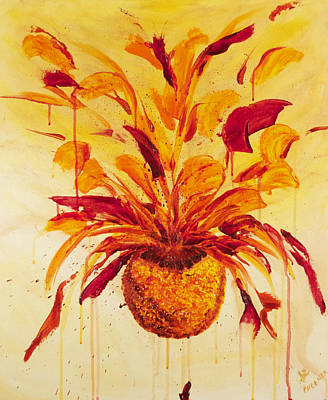 Blood Orange Ginger Original by Phoenix The Moody Artist