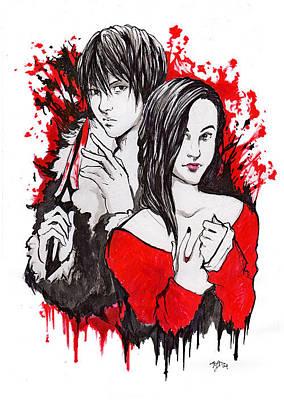 Drawing - Blood Pair by Miguel Karlo Dominado