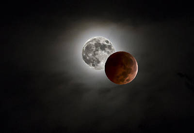 Photograph - Blood Red Moon Before And After by Lisa Moore