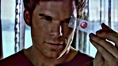 Blood Slide Dexter Art Print