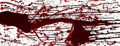 Blood Spatter Series Art Print