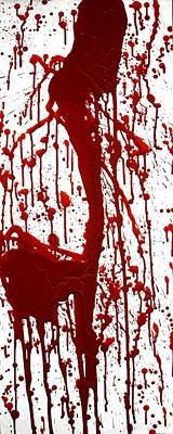 Blood Splatter II Art Print by Holly Anderson