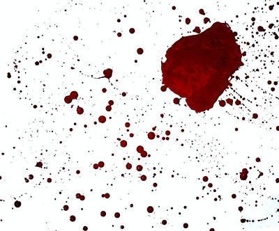 blood splatter PANCHAKARMA Art Print