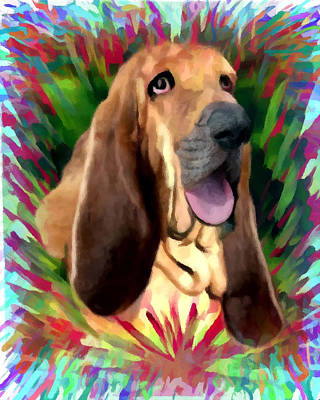 Dog Painting - Bloodhound by Char Swift