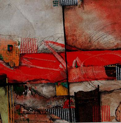 Squares Mixed Media - Bloodstream by Laura  Lein-Svencner