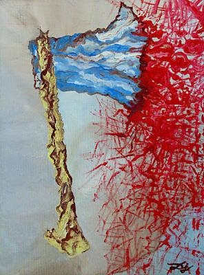 Woodsmen Painting - Bloody Axe by Daniel Janda