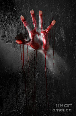Bloody Hand Art Print by Jt PhotoDesign