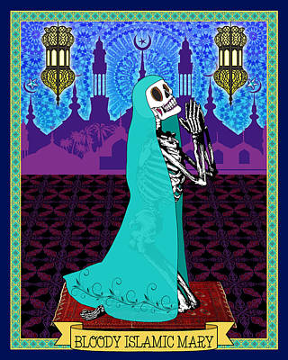 Digital Art - Bloody Islamic Mary by Tammy Wetzel