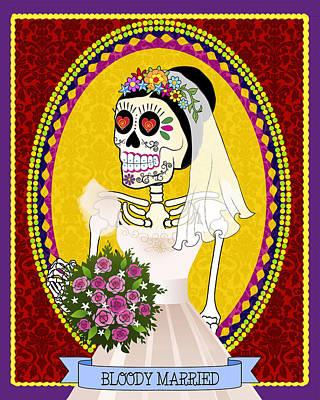 Bloody Married Art Print by Tammy Wetzel