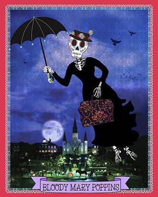 Bloody Mary Poppins Art Print by Tammy Wetzel