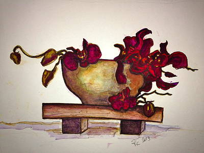 Painting - Bloody Orchids by Rae Chichilnitsky