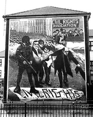 Photograph - Bloody Sunday Mural B/w by Nina Ficur Feenan