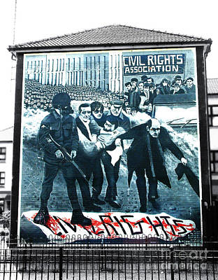 Photograph - Bloody Sunday Mural by Nina Ficur Feenan
